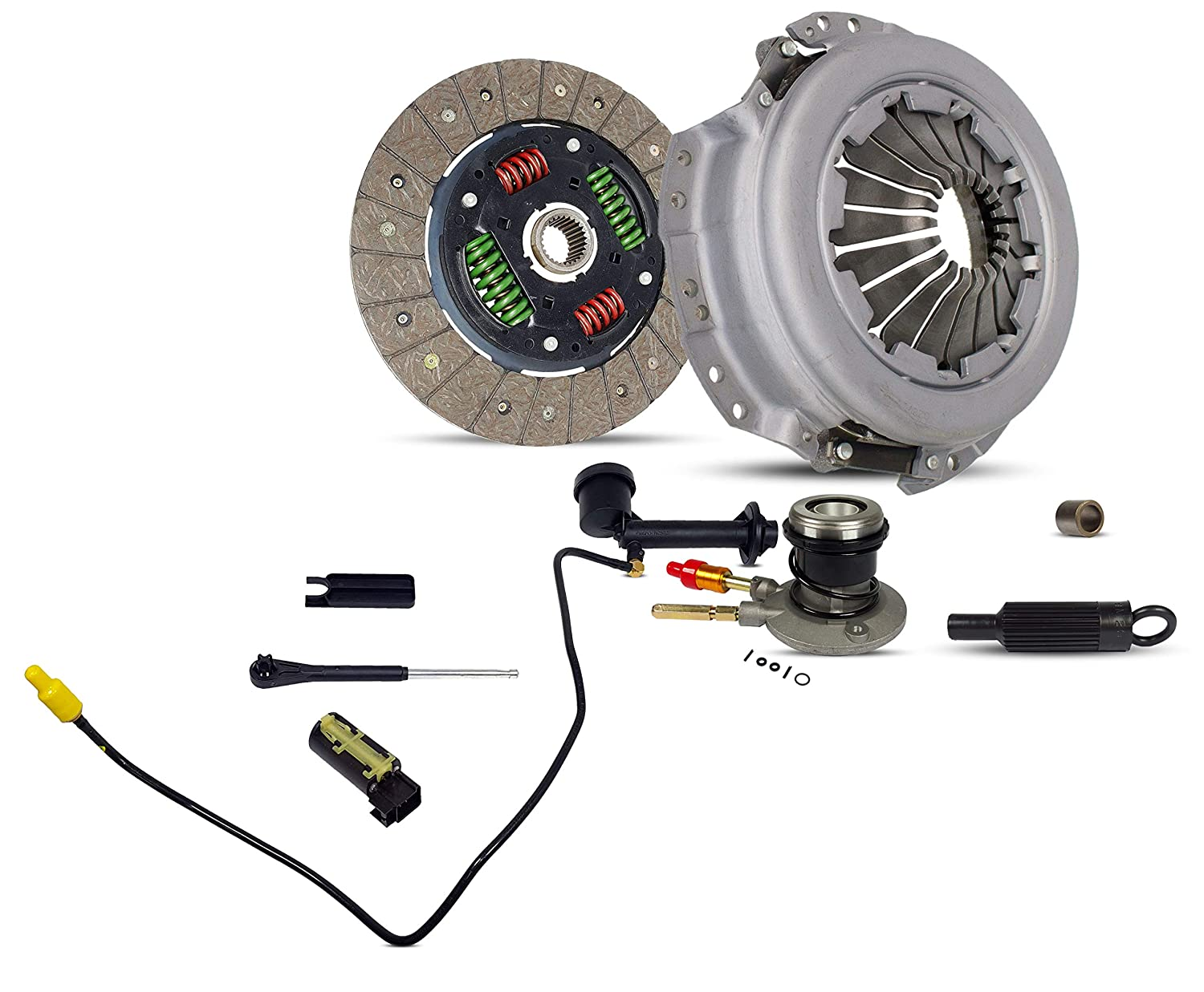 Clutch Kit Pre Filled Master And Slave Cylinders with Line Works With Chevrolet S10 Gmc Sonoma Base Ls Xtreme Sl Sle Sls Cab Pickup 1996-2003 2.2L L4 OHV Southeast Clutch