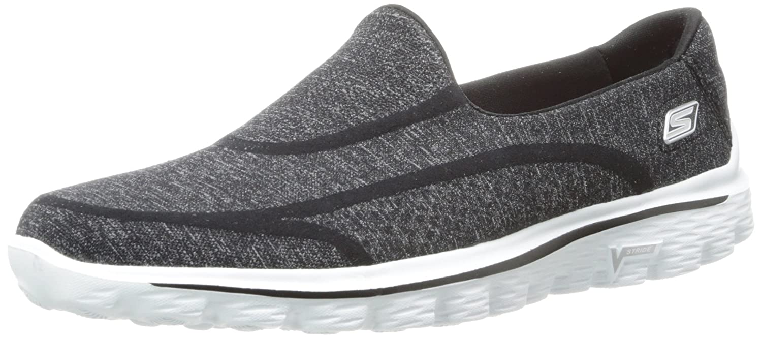 [スケッチャーズ] SKECHERS スニーカー GO WALK 2 SUPER SOCK B00I5ISXF8 7.5|Old Black White Old Black White 7.5