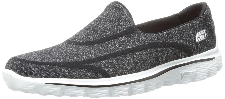 Skechers Performance Women's Go Walk 2 Super Sock 2 Slip-On Walking Shoe B00I5ISXGM 8.5 B(M) US|Old Black White