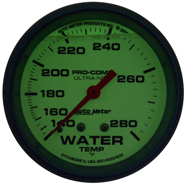 Auto Meter 4231 Ultra-Nite Water Temperature Gauge
