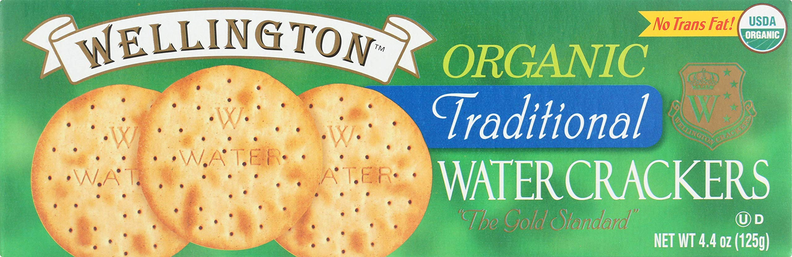 Wellington Crackers, Crackers Water Original Organic, 4.4 Ounce by Wellington Crackers