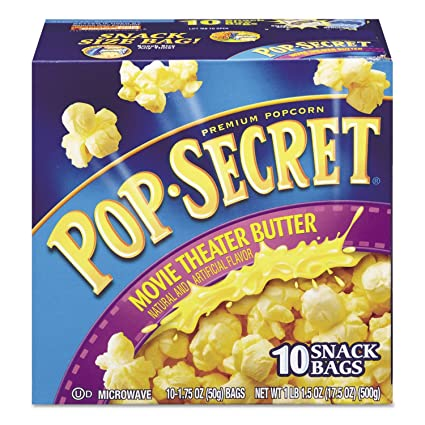 Pop Secret Microondas palomitas de maíz, Cine Mantequilla ...
