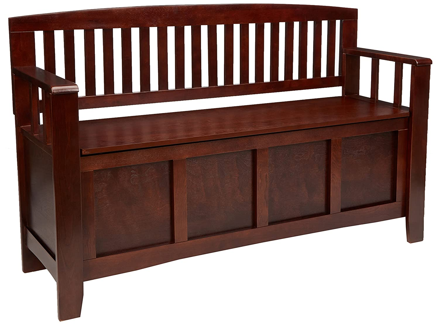 Linon Home Decor Cynthia Storage Bench 83985WAL-01-KD-U