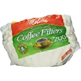 Melitta White Jr. Basket Filter, 4-6 Cup, 200 ct