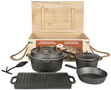 Country style Dutch Oven 7teilig Set da Cucina in ghisa Accessorio ...