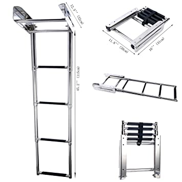 Amazon.com: Amarine Made - Escalera telescópica para ...