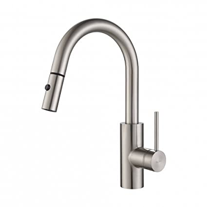 Kraus KPF-2620SS Modern Oletto Single Lever Pull Down Kitchen Faucet ...