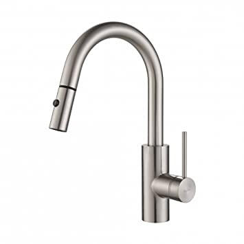 kraus kpf2620ss modern oletto single lever pull down kitchen faucet stainless steel