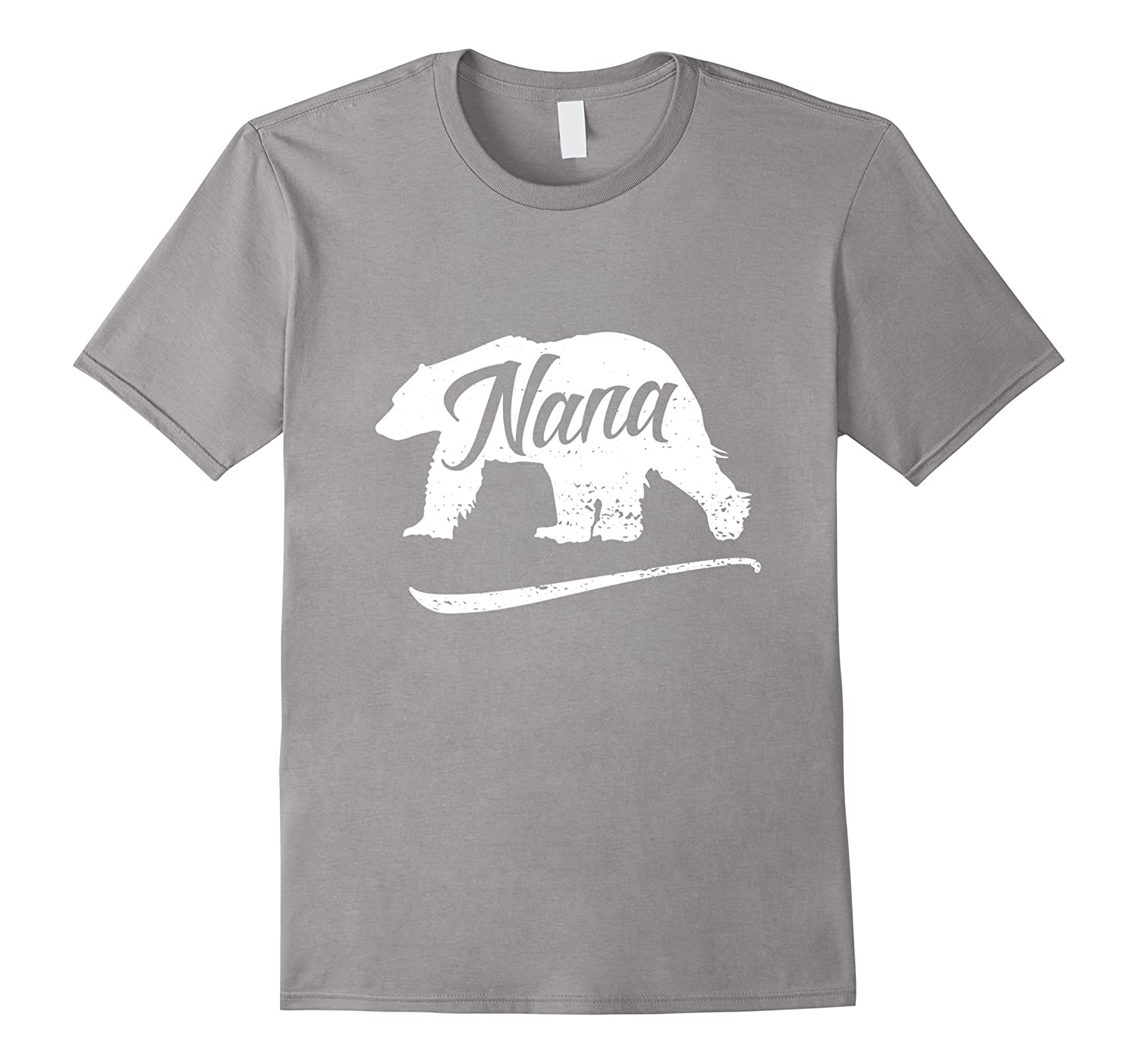 Cute Nana Bear T-Shirt Wild Fishing Hiking Walking Outdoors-PL