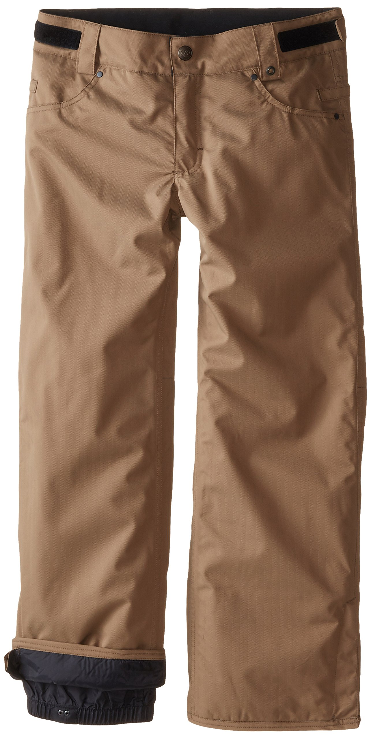 686 Boy's Prospect Insulated Pant, Large, Tobacco Herringbone