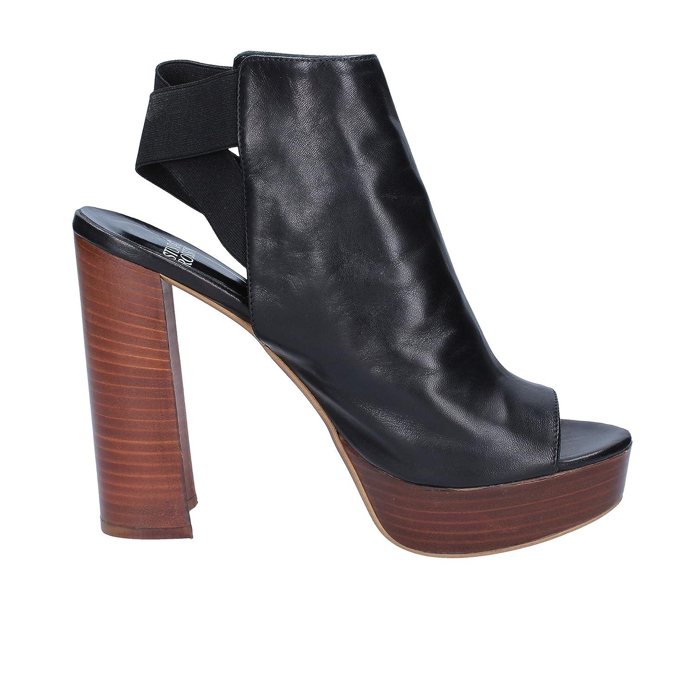 SILVIA SILVIA SILVIA ROSSINI Sandalen Damen Leder schwarz 7cbd16