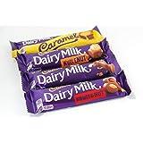 英国 キャドバリー デイリーミルク 4種類のチョコレートバーセット(ホールナッツ、キャラメル、デイリーミルク、フルーツ&ナッツ)CADBURY DAILY MILK CHOCOLATE 4 BARS SELECTION(WHOLE NUT 49G×1, CARAMEL 45G×1, FRUIT&NUT 49G×1, DAILY MILK 45G×1)【並行輸入品】【海外直送品】