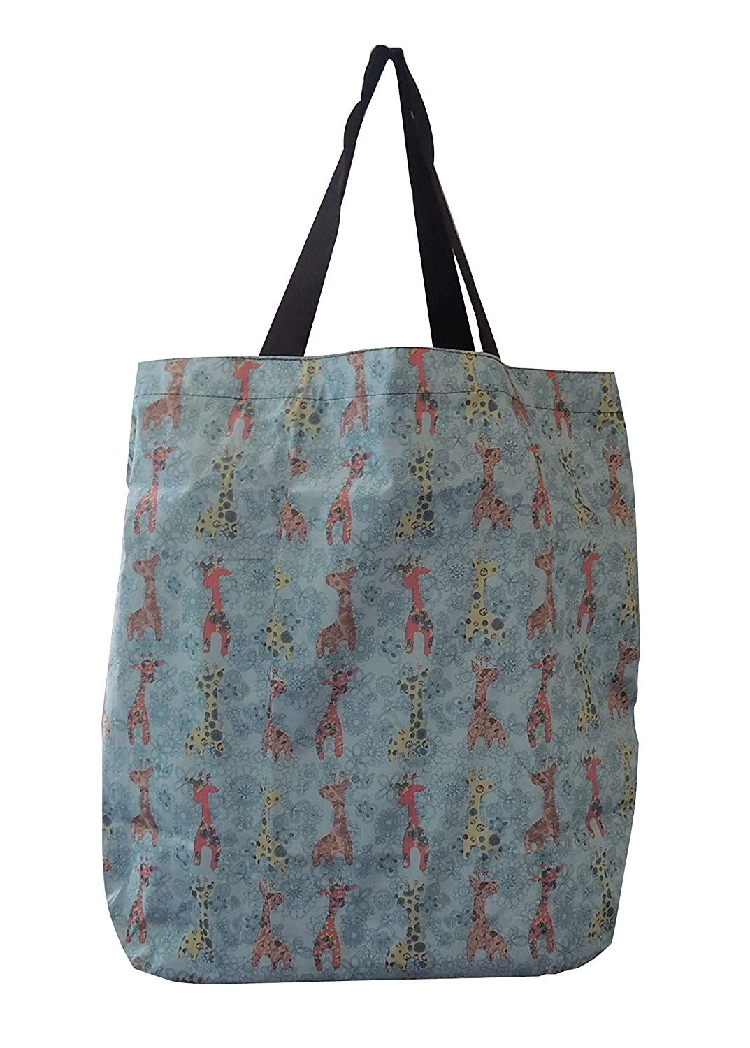 f659c26d5 Amazon.com: Tote Bag - Foldable, Ultra Light, Durable, Great Designs, For  Grocery or Travel, Stores Easily in a Mini Zipper Pocket (Giraffe): Kitchen  & ...