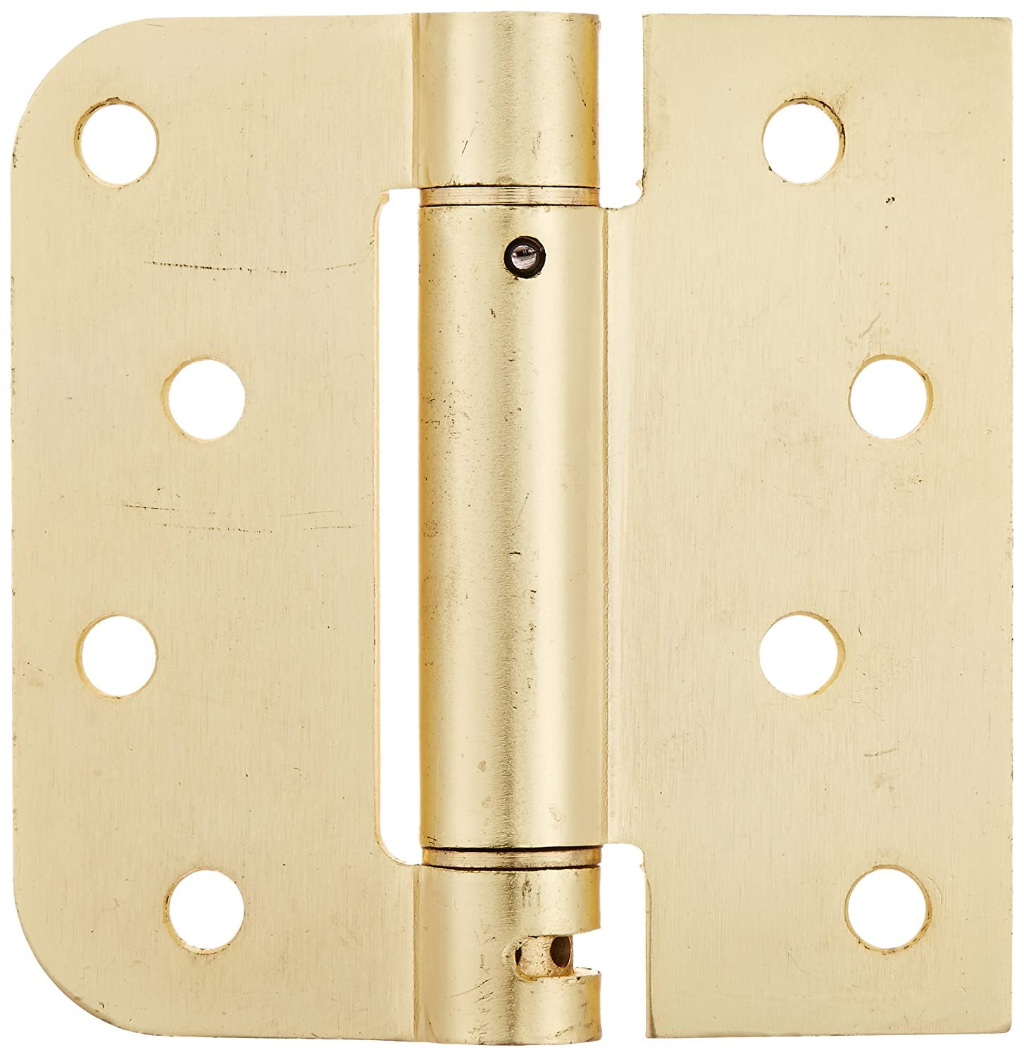 Deltana DSH4R5TT4 Single Action Steel 4 Inch x 4 Inch x 5 8 Inch x Sq Spring Hinge