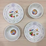 2 in 1 PORCELAIN Portion Perfection Bariatric Surgery Bowl and Plate Set (2 Bowls & 2 Plates) Helps Control Your Diet Calorie Intake Weight Loss giving you the Perfect Portion