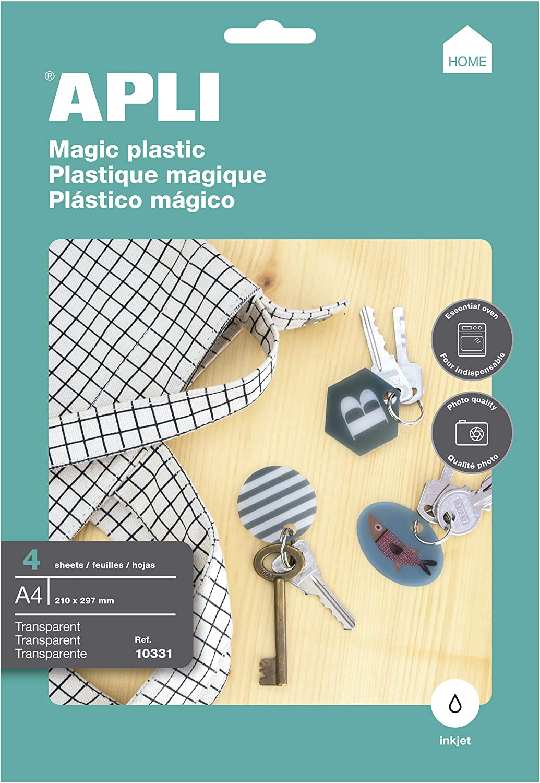 APLI Plástico Mágico transparente 4hojas