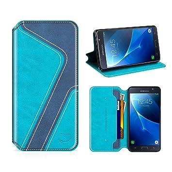 MOBESV Smiley Funda Cartera Samsung Galaxy J5 2016, Funda Cuero Movil Samsung J5 2016 Carcasa Case con Billetera/Soporte para Samsung Galaxy J5 2016 - ...