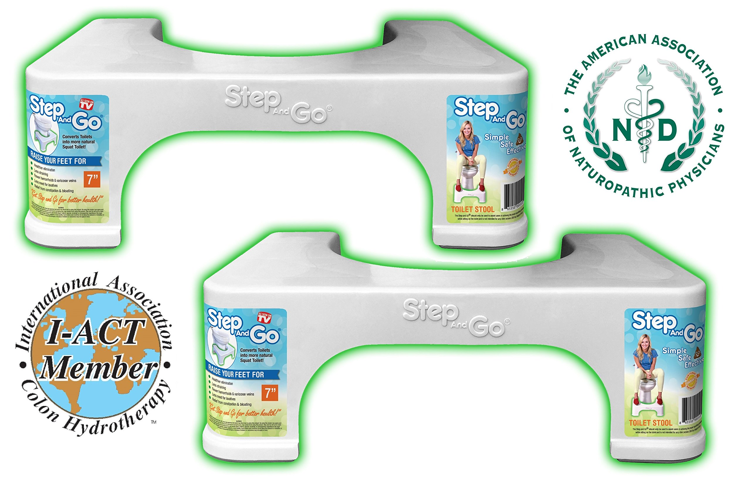 Step and Go 2 Pack 7'' Toilet Step (Pack of 2)