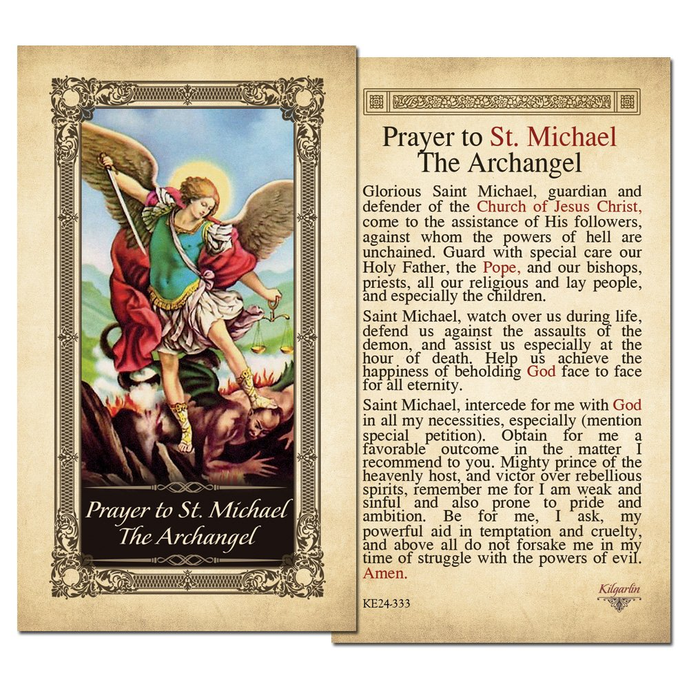 St. Michael the Archangel Laminated Prayer Card
