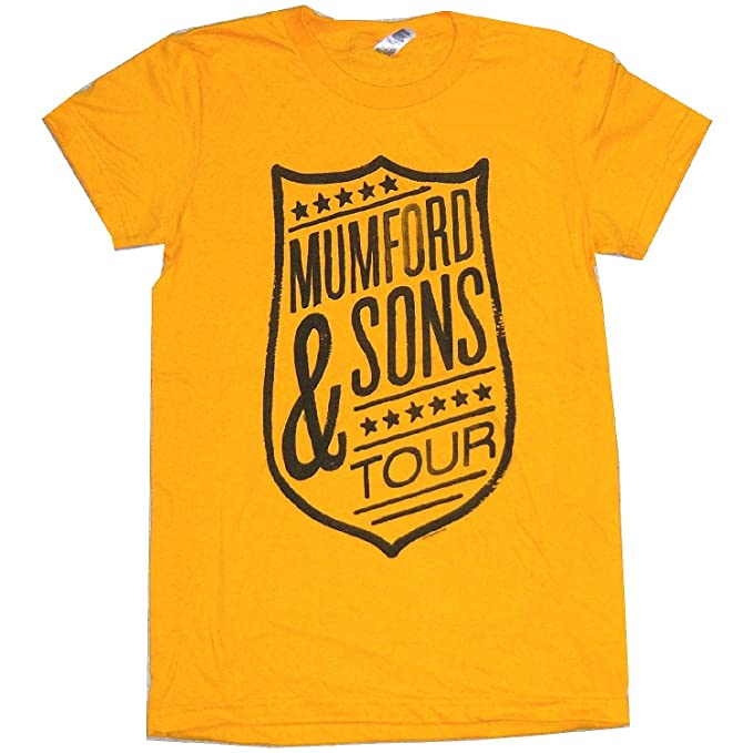 b9fc77c4b6c Mumford   Sons  quot Shield quot  Tour Yellow Girls Baby Doll T-shirt (