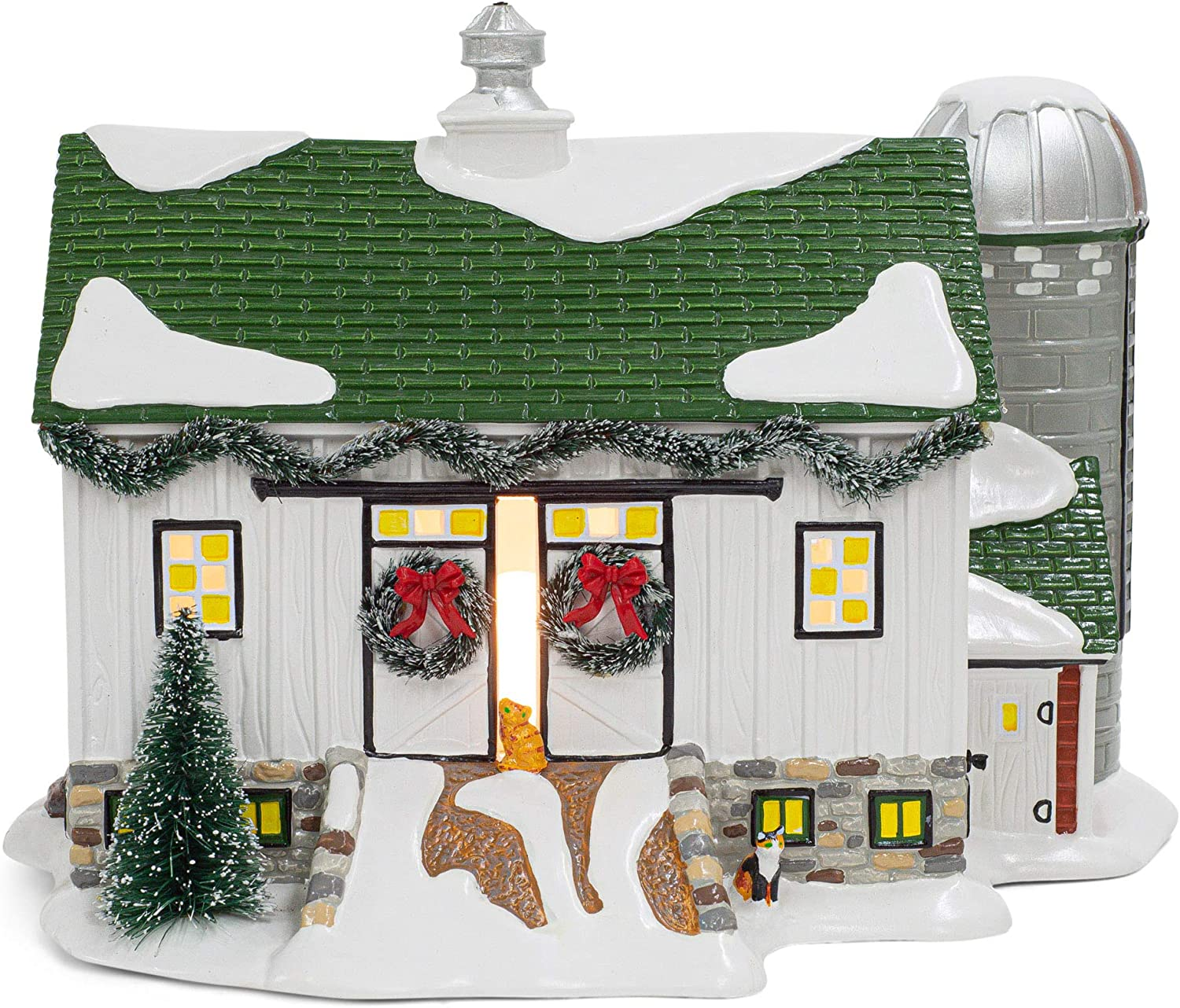 Department 56 Hot Properties Country Living Village Crooked Creek Farm Lighted Building, 7.48 in H