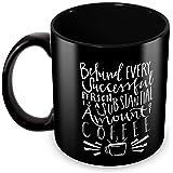 Tuelip Printed Quotes About Success of Coffee Ceramic Tea and Coffee Ceramic Mug, 350ml, White
