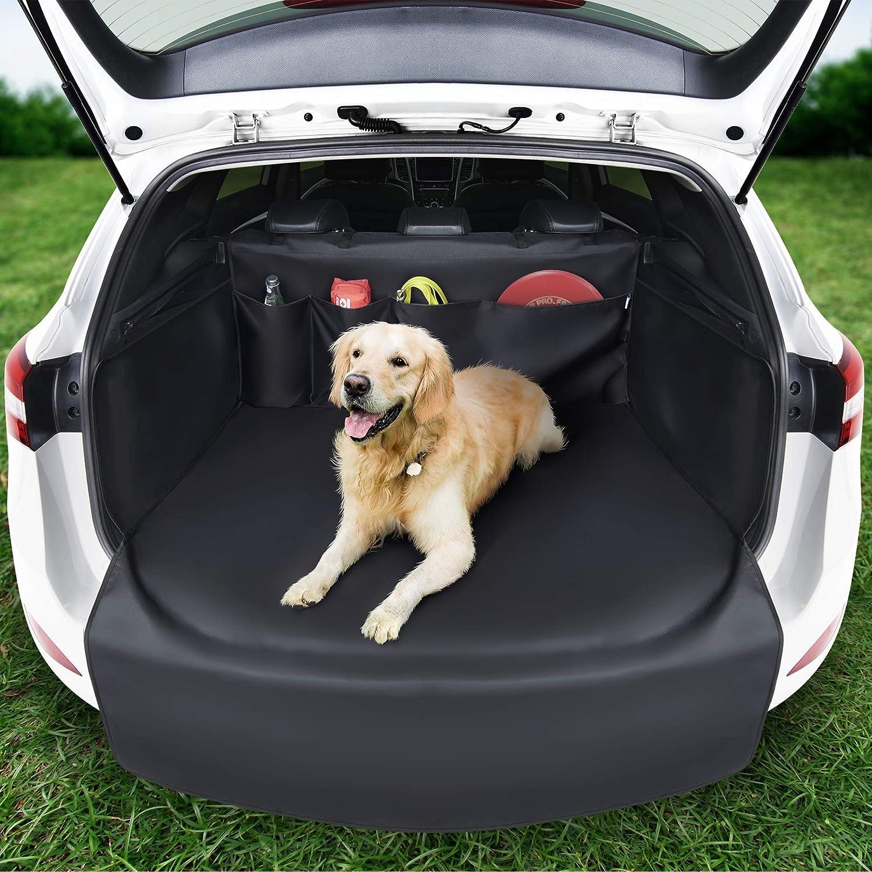 Systemoto Kofferraumschutz Hund Mit Seitenschutz Innovative Organizer Funktion Universal Auto Kofferraum Hundedecke Robuste Schutzmatte Für Hunde 192 X 105 X 36 Haustier