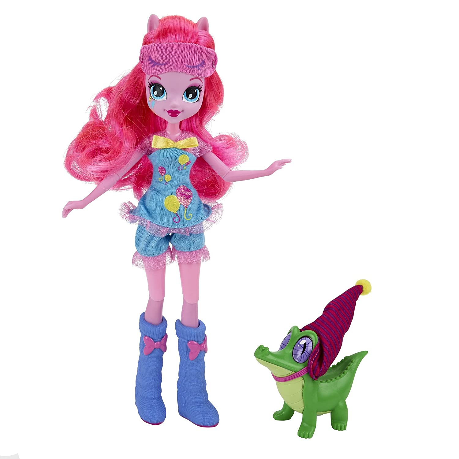Amazon.es: Hasbro Juego de muñeca Rainbow Rocks con Pinkie Pie and Gummy Snap B1071 My Little Pony Equestrian Girls: Juguetes y juegos
