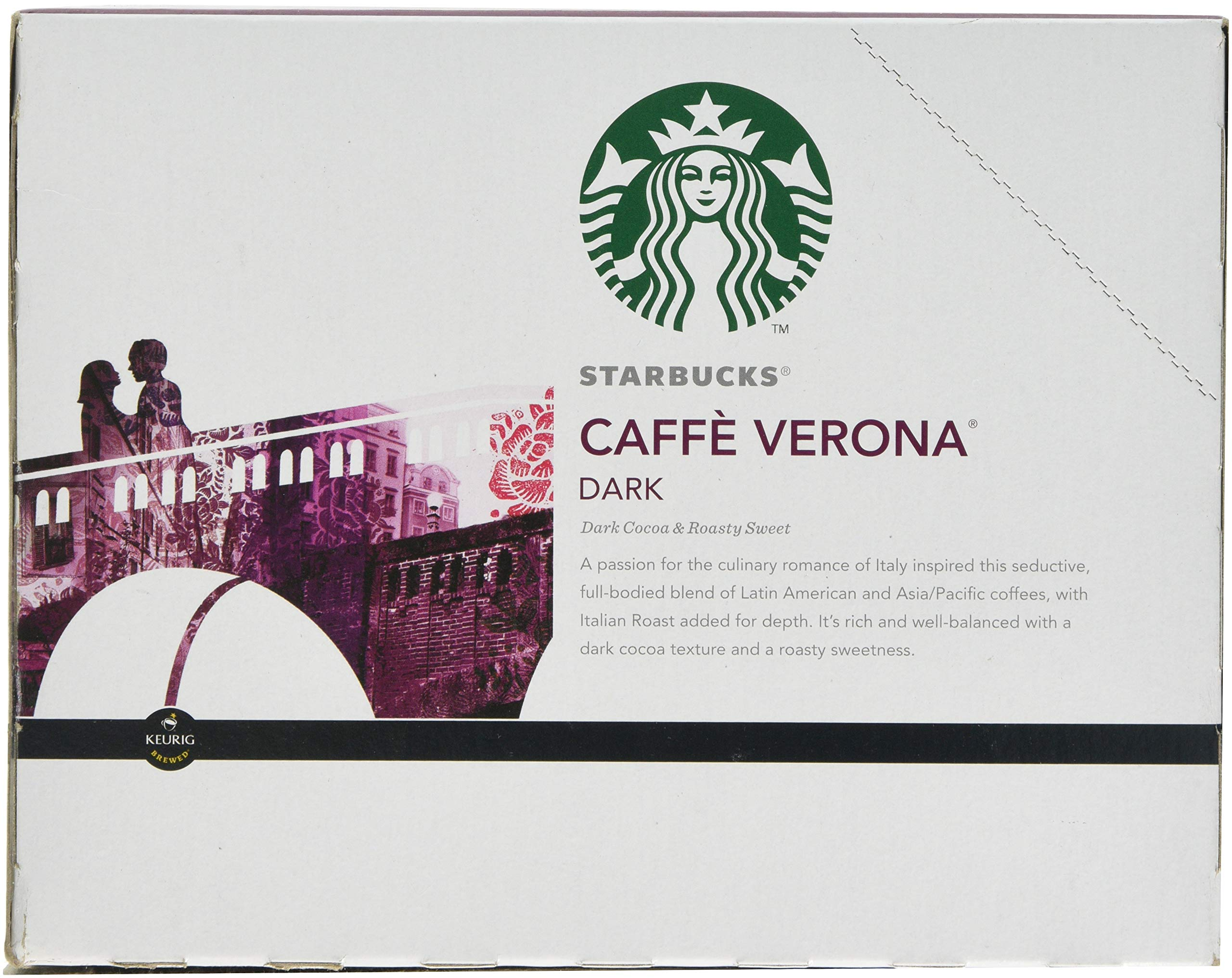 Starbucks Caffe Verona Dark, K-Cup for Keurig Brewers, 24 Count by Starbucks