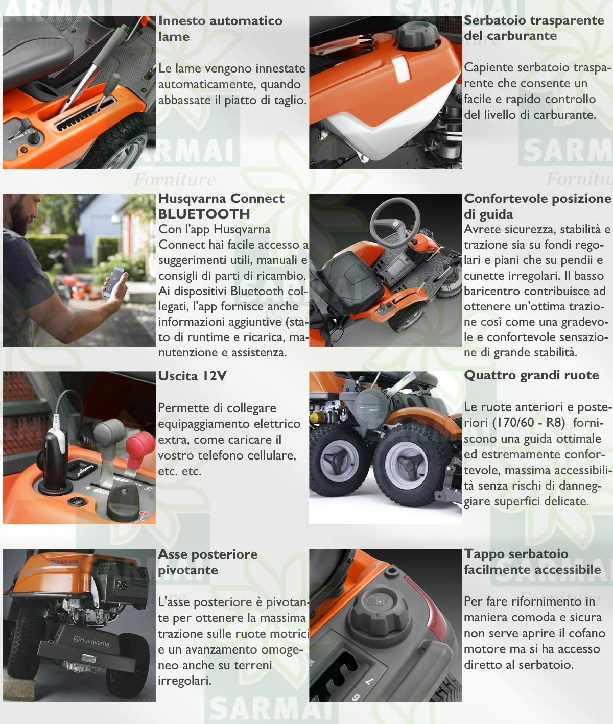 Husqvarna - Tractor cortacésped Rider R 316TX AWD hidroestático ...