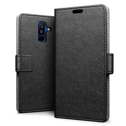 SLEO Funda para Samsung Galaxy A6 Plus 2018 Carcasa Libro de Cuero Ultra Delgado Billetera Cartera [Ranuras de Tarjeta,Soporte Plegable,Cierre ...