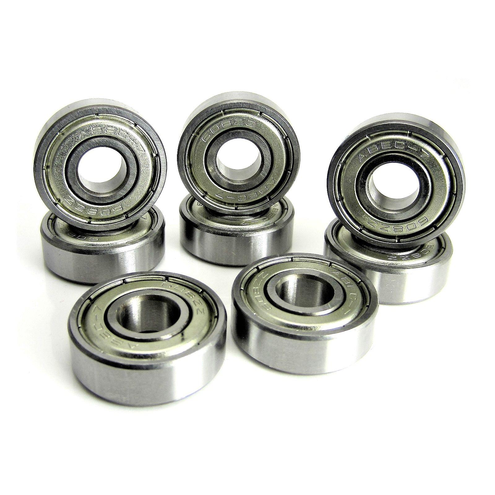 8x22x7mm ABEC 7 Precision Skate Ball Bearings Metal Shields (8) by TRB RC