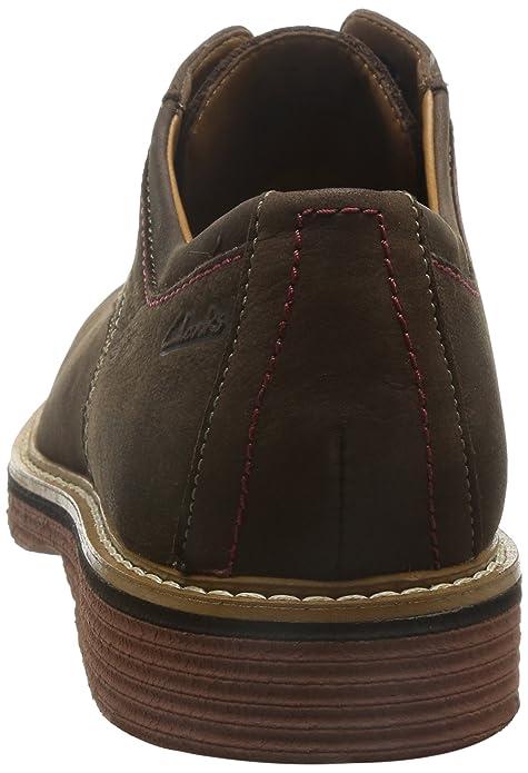 Clarks Habillé Homme Newkirk Plain Nubuck Chaussures De Weite Passform Taille 42½ ofMQM