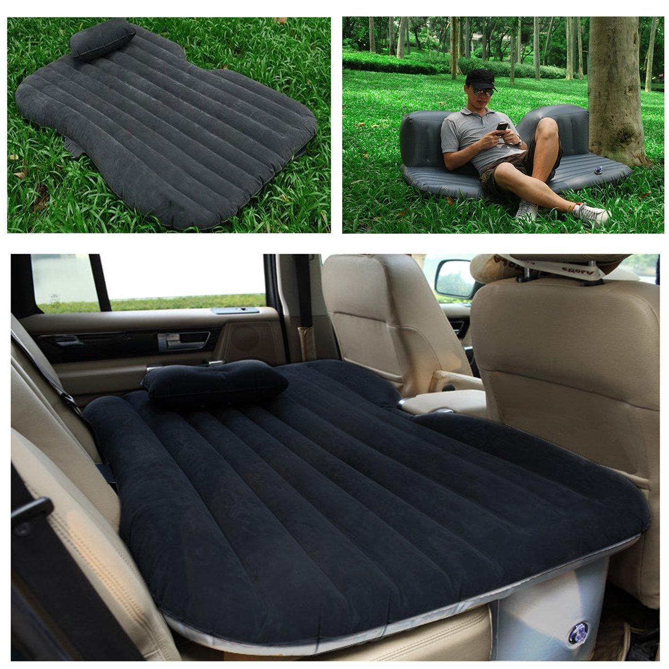Amazon.com : ASJ Car Travel Inflatable Mattress Inflatable ...