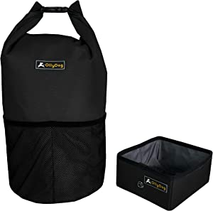OllyDog Kibble Carrier, Portable Dog Food Storage Container, Lightweight, Durable, for Travel, Hiking, Camping, Large Enough to Carry Food for Small, Medium, or Large Dogs, BPA-Free.