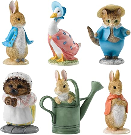 Beatrix Potter Miniature Figurine Collection – Starter Set of 6