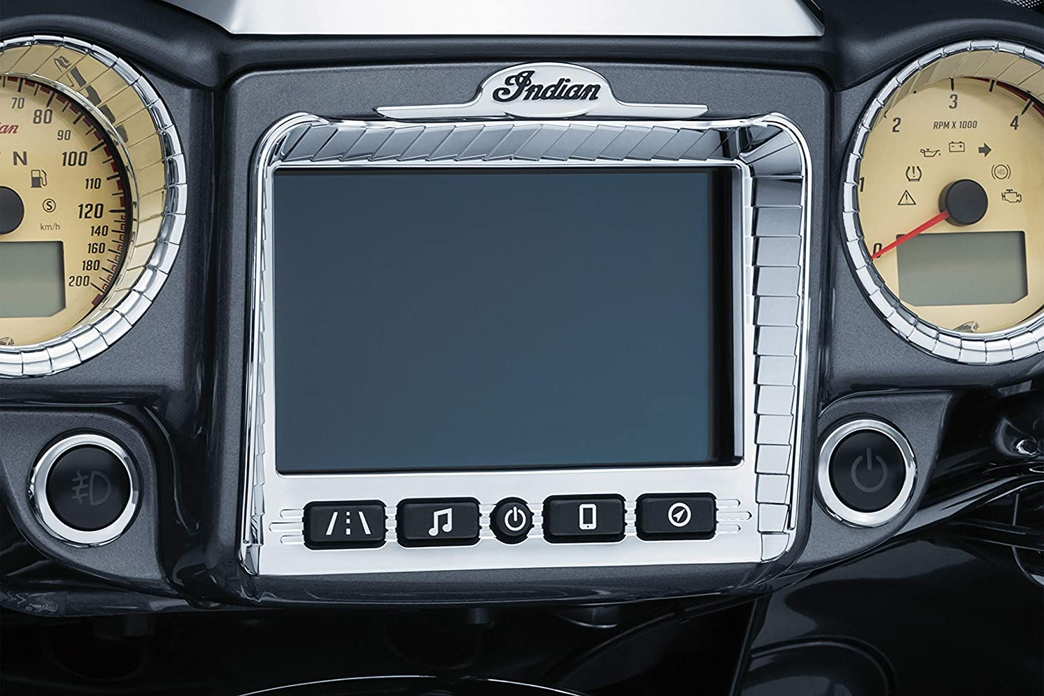 Aztec Stereo Accent for 2017-2019 Indian Chieftain /& Roadmaster Motorcycles Kuryakyn 5198 Motorcycle Accessory Satin Black