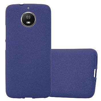 Cadorabo Funda para Motorola Moto G5s en Frost Azul Oscuro: Amazon ...