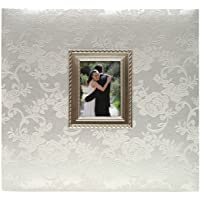 MCS MBI 13.5x12.5 Inch Wedding Scrapbook Album with 12x12 Inch Pages with Photo Opening, Silver (850011)