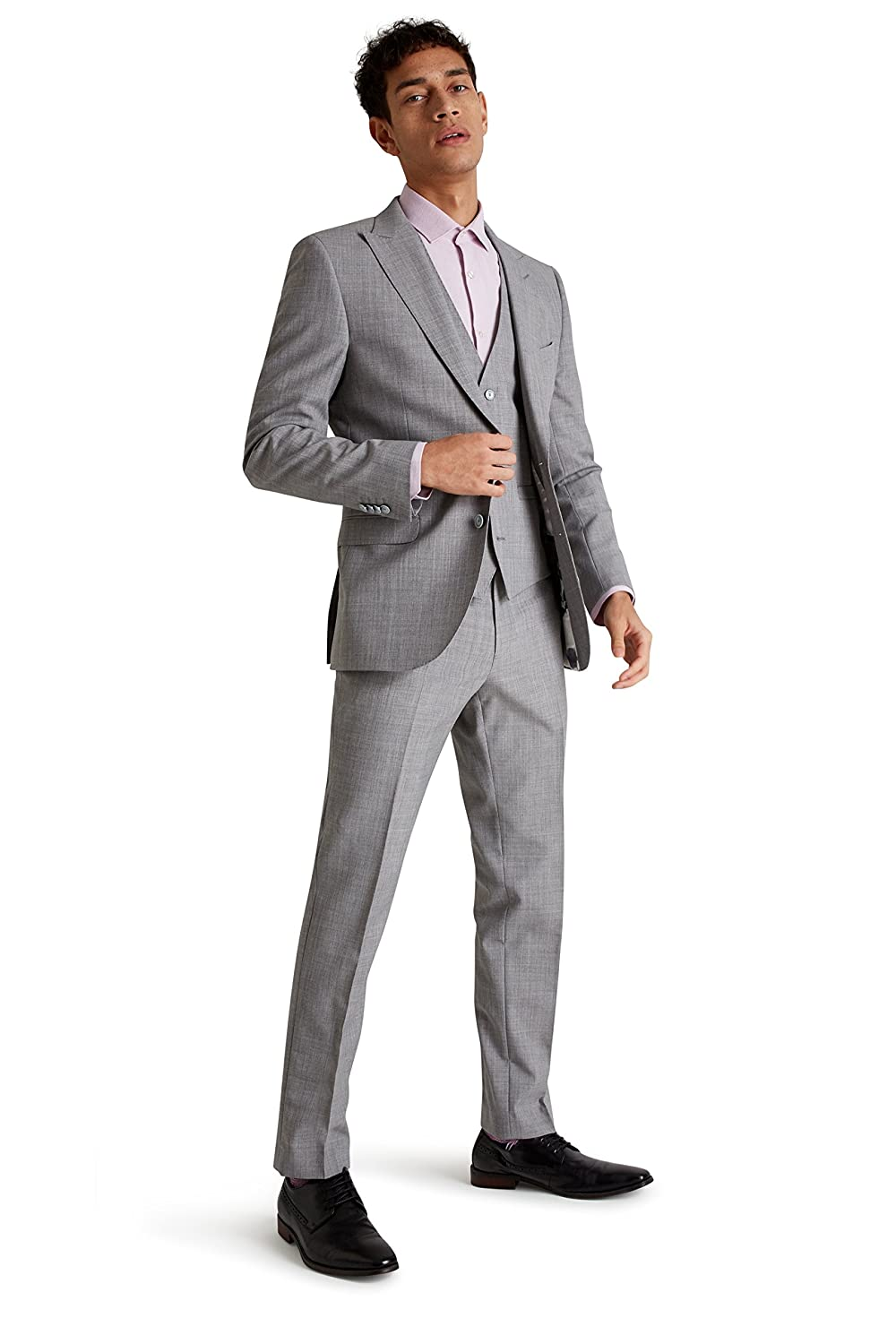 c007ba3802f French Connection Men's Slim Fit Light Grey Marl 3 Piece Suit 38R:  Amazon.co.uk: Clothing