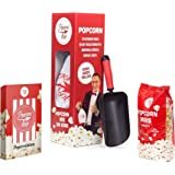 Popcornloop Kinoset Besteht Aus: Original Popcornloop, Popcorn Schaufel, 6er Tüten, 500g Mais Auspacken, Loslegen