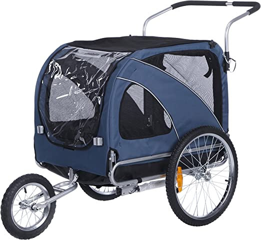 leonpets 2 en 1 mascotas Carrito de transporte para Jogger ...