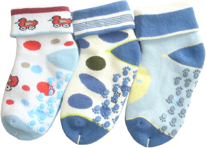 0-6M//15-16, 3 pares #1 JHosiery Beb/és ni/ño calcetines de toalla sin costuras