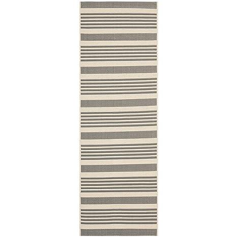 Amazon.com: Safavieh Courtyard Collection CY6062-236 Grey and Bone ...