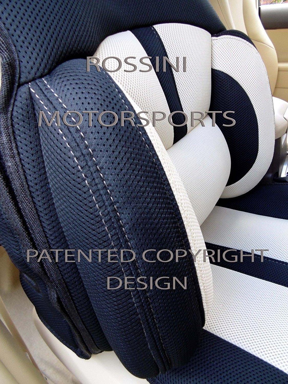 Bo 4/ROSSINI Recaro secchio maglia sport beige//nero 2/frontali coprisedili per auto che si adatta a SUZUKI JIMNY