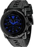 Glam Rock Unisex Quartz Watch With Black Dial Analogue Display And Silicone Bracelet 0.96.2399