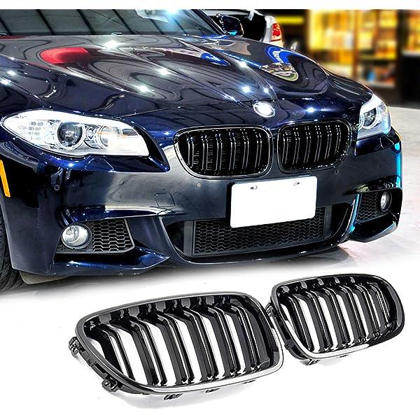 Color : Matte Black A Pair Car Kidney Grille//Fit For BMW E90 E91 Gloss Black M-Color Car Front Grille Grilles Double Line Grills 2009 2010 2011 2012 Auto Accessories