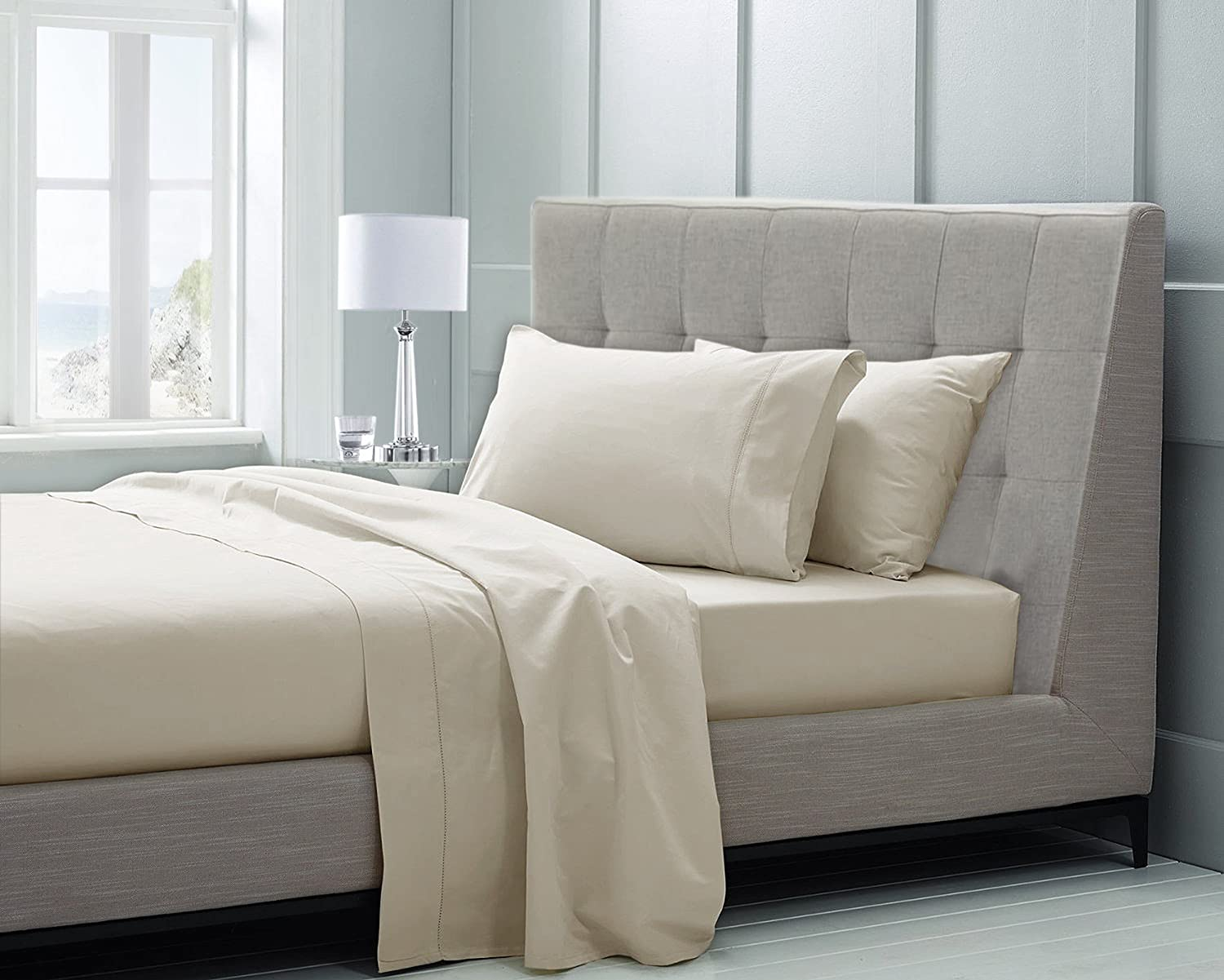 Amazon.com: Chateau Home Collection Hotel Luxury 100% Supima Cotton Solid  600 Thread Count Sheet Set, Soft U0026 Silky Sateen Weave Mega Sale,  Long Staple ...