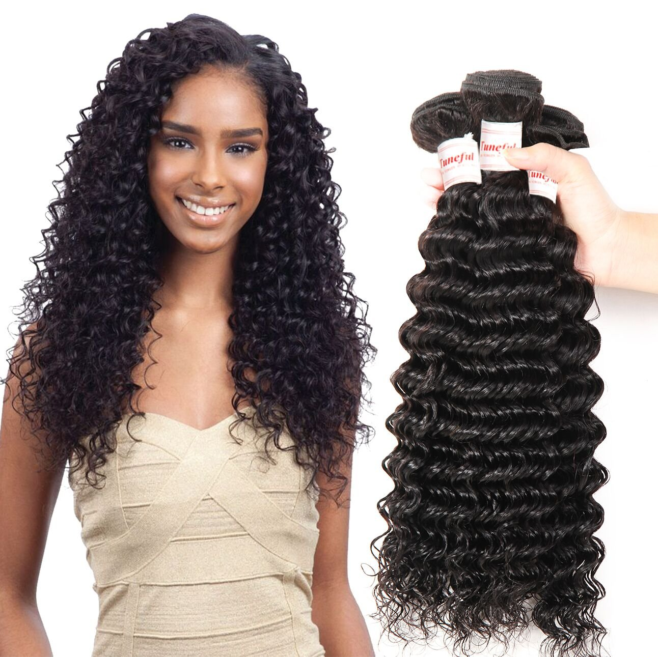 Amazon tuneful brazilian deep wave hair 3 bundles remy amazon tuneful brazilian deep wave hair 3 bundles remy virgin human weave 7a grade deep curly hair extensions 10 12 14 inch natural color beauty pmusecretfo Images