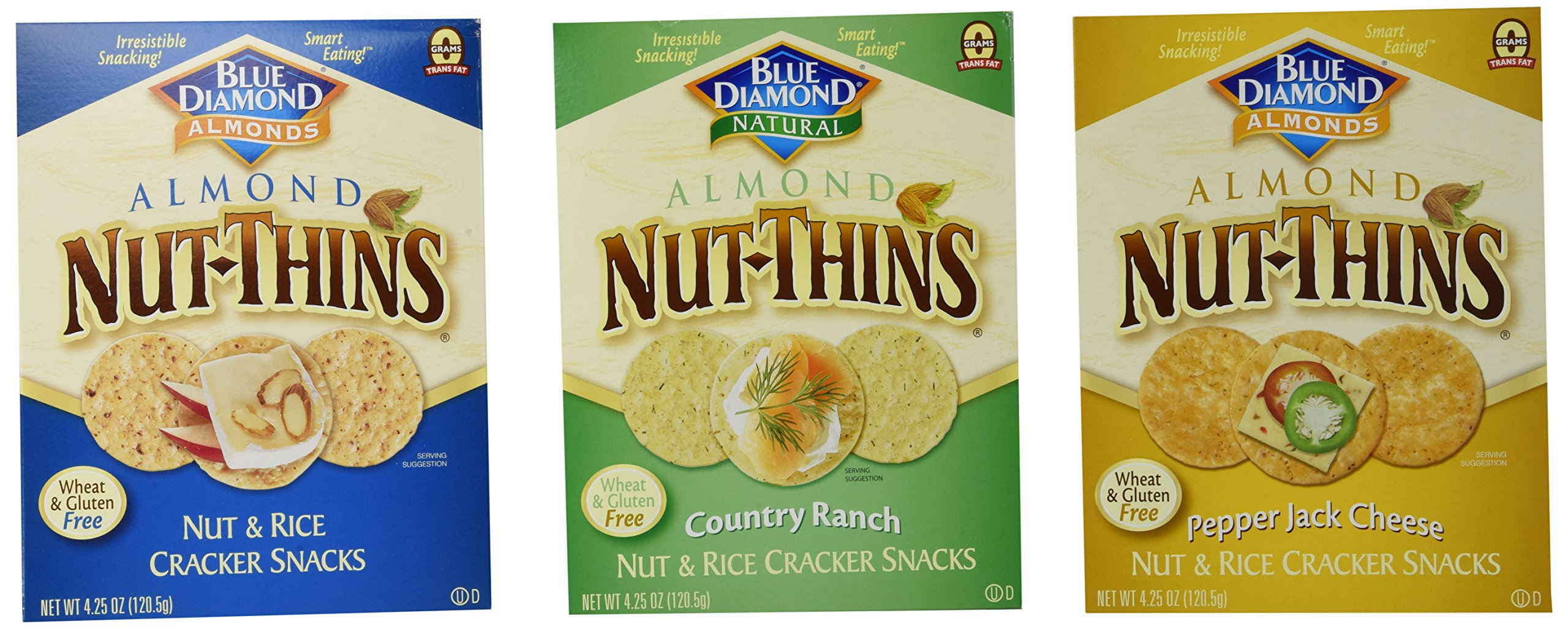 Amazon.com: Blue Diamond Almond Nut-Thins Hint of Sea Salt ...